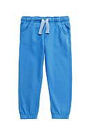 Детские спортивные штаны теплые  F&F голубого цвета