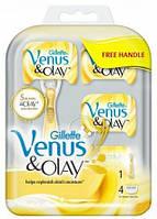 """Картридж Gillette """"Venus&OLAY"""" (4) +Ручка в Подарок!"""