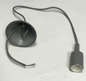 Декоративный подвес для LED лампы SL-072 V-образный Е27 серый Код.58965