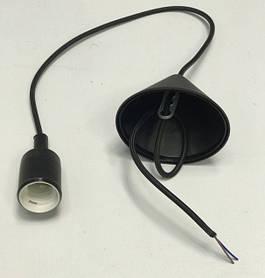 Декоративный подвес для LED лампы SL-072 V-образный Е27 черный Код.58966