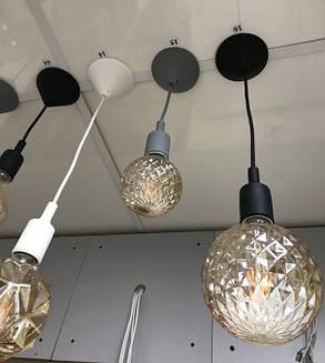 Декоративный подвес для LED лампы SL-072 V-образный Е27 черный Код.58966, фото 2