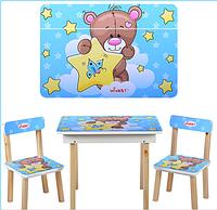 Детский столик со стульчиками и ящичком 503-8 Мишка ***