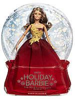 Кукла Барби Праздничная 2016 в красном наряде Коллекционная кукла Barbie 2016 Holiday DollDRD25