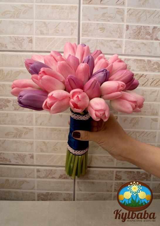 Свадебное оформление из тюльпанов