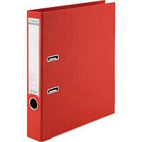 Папка-регистратор Axent Prestige+ A4 с двусторонним покрытием, 5 см красный