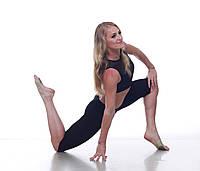 Бриджи тренировочные женские Dance&Sport NM11 черные, маслоDance&Sport NM11 черные, масло S