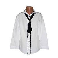 Рубашка для девочки школа 7-10лет(122-140) арт.3195.1+галстук