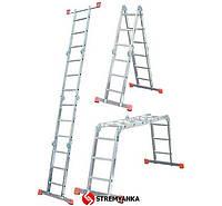 Лестницы и стремянки KRAUSE Шарнирная лестница-стремянка KRAUSE MultiMatic 4x3 ступеней