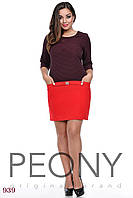 Платье Парагон (48 размер, красный горошек) ТМ «PEONY»