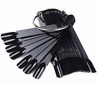 Типсы веер на кольце 50 шт ( черные)