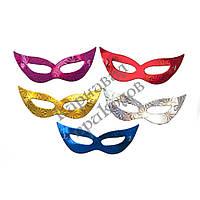 Венецианская маска фольга (уп. 12шт)