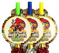 Праздничный гудок Angry Birds 13 см, 6 шт