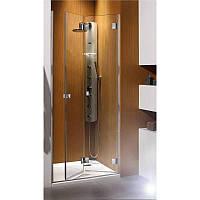 Складная дверь в нишу Radaway Carena DWB 90R (893-805x1950) правая, коричневая/хром (34502-01-08NR)