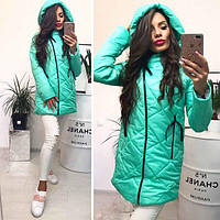 Куртка женская, ткань плащевка, утеплитель синтепон 200 , много цветов фото реал дсмир № 0067
