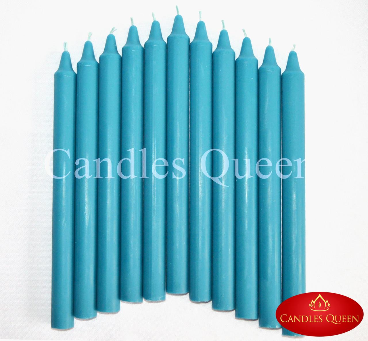Свеча столовая цвет сине-зеленый 240х20 мм
