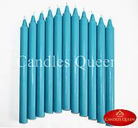 Свеча столовая цвет сине-зеленый 240х20 мм, фото 1