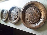 Декоративная тарелка, деревянная, 1 , ручная резьба