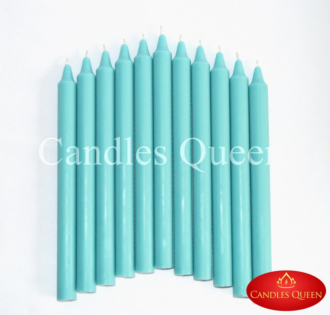 Свечи столовые бирюза 240х20 мм 30 шт