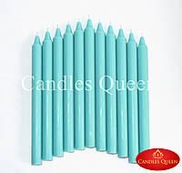 Свечи столовые бирюза 240х20 мм 30 шт, фото 1