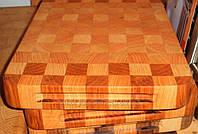 Доска разделочная для мясных продуктов, деревянная, усиленная, бук, размер 30 на 20 см