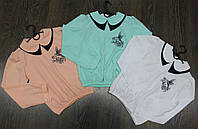 Блузка-рубашка школьная для девочек, ткань софт, размеры 134, 140, 146, 152 см.