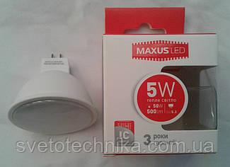Светодиодная лампа Maxus LED-513 5W 3000К
