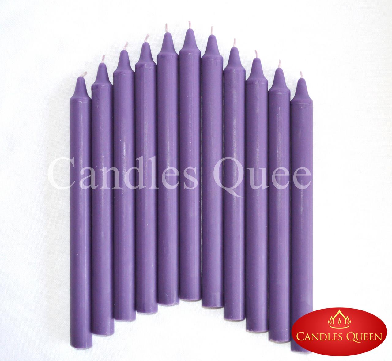 Свеча столовая фиолетовая 240х20 мм