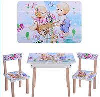 Деревянный столик со стульчиками 501-18 Детки***