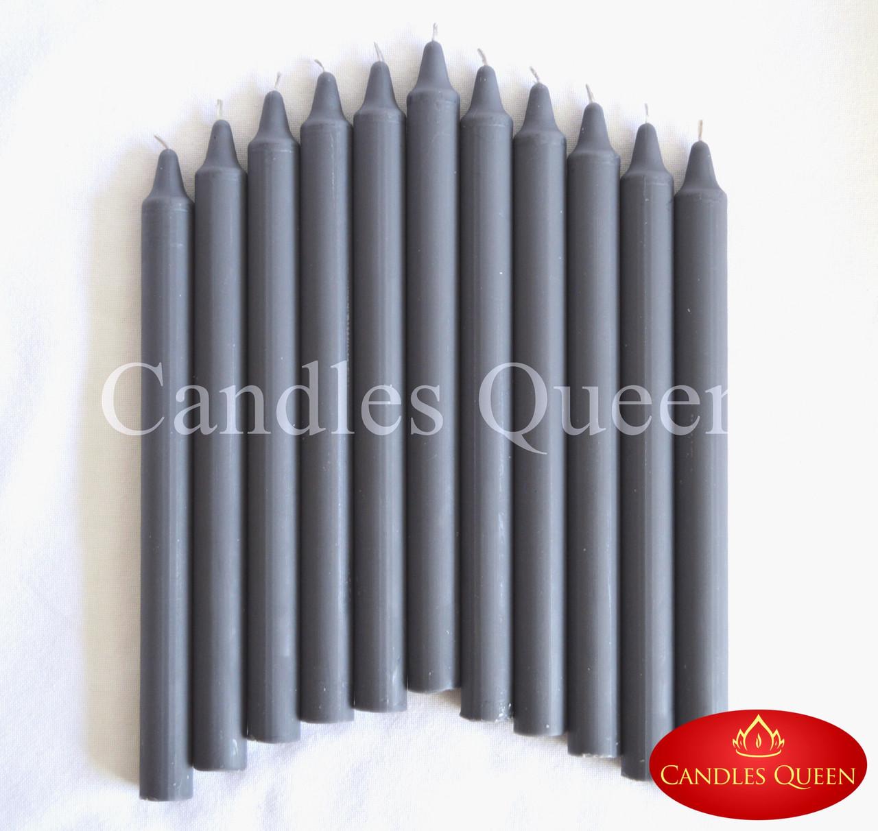 Свечи столовые темно-серые 240х20 мм 30 шт