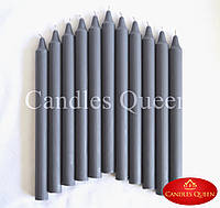 Свечи столовые темно-серые 240х20 мм 16 шт, фото 1