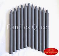 Свечи столовые темно-серые 240х20 мм 16 шт