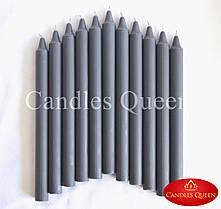 Свечи столовые темно-серые 240х20 мм - 1 шт