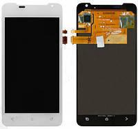 Дисплей (экран) для HTC Z321e One J + с сенсором (тачскрином) белый Оригинал