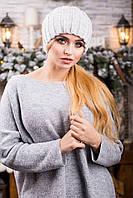 Стильная женская теплая шапка