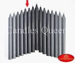 Свечи цвет антрацитовый 240х20 мм - 1 шт