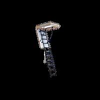 Лестница чердачная складная Oman Solid Termo высота 280 см. габаритный размер 120х70 см
