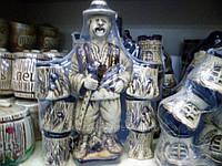 Керамика набор столовый, 6 чашек, 1 декоративная бутылка