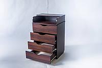 Деревяный детский комод-пеленатор ТМ «DeSon», цвет - орех, фото 1