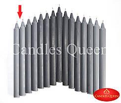 Свечи столовые серые 240х20 мм - 1 шт