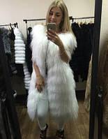Белая жилетка из ламы