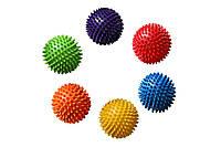 Мяч массажный с пупырышками 4520: 6 цветов, размер 23,5см