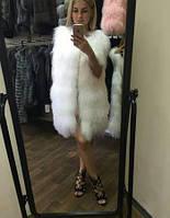 Жилетка из ламы белоснежная