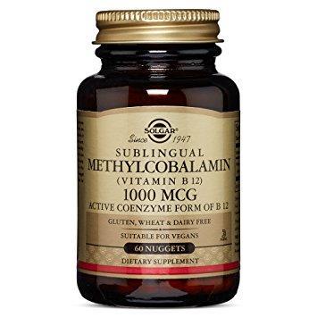 Sublingual Methylcobalamin (Vitamin B12) 1000 mcg Solgar 60 tabs