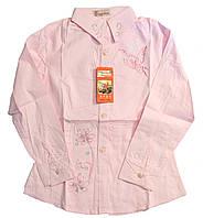 Рубашка для девочек, розовая (7-10 лет)