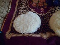 Меховая накидка на стулья,50 см, круглая