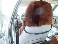 Накидка для автомобильных сидений, овчина, из подголовником
