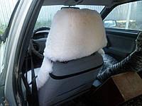 Накидка для сидений, автомобильный чехол, 120 см на 50 см, белый стриженый, из подголовником, овчина