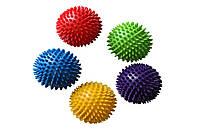 Мяч массажный с пупырышками 4521: 5 цветов, размер 28см