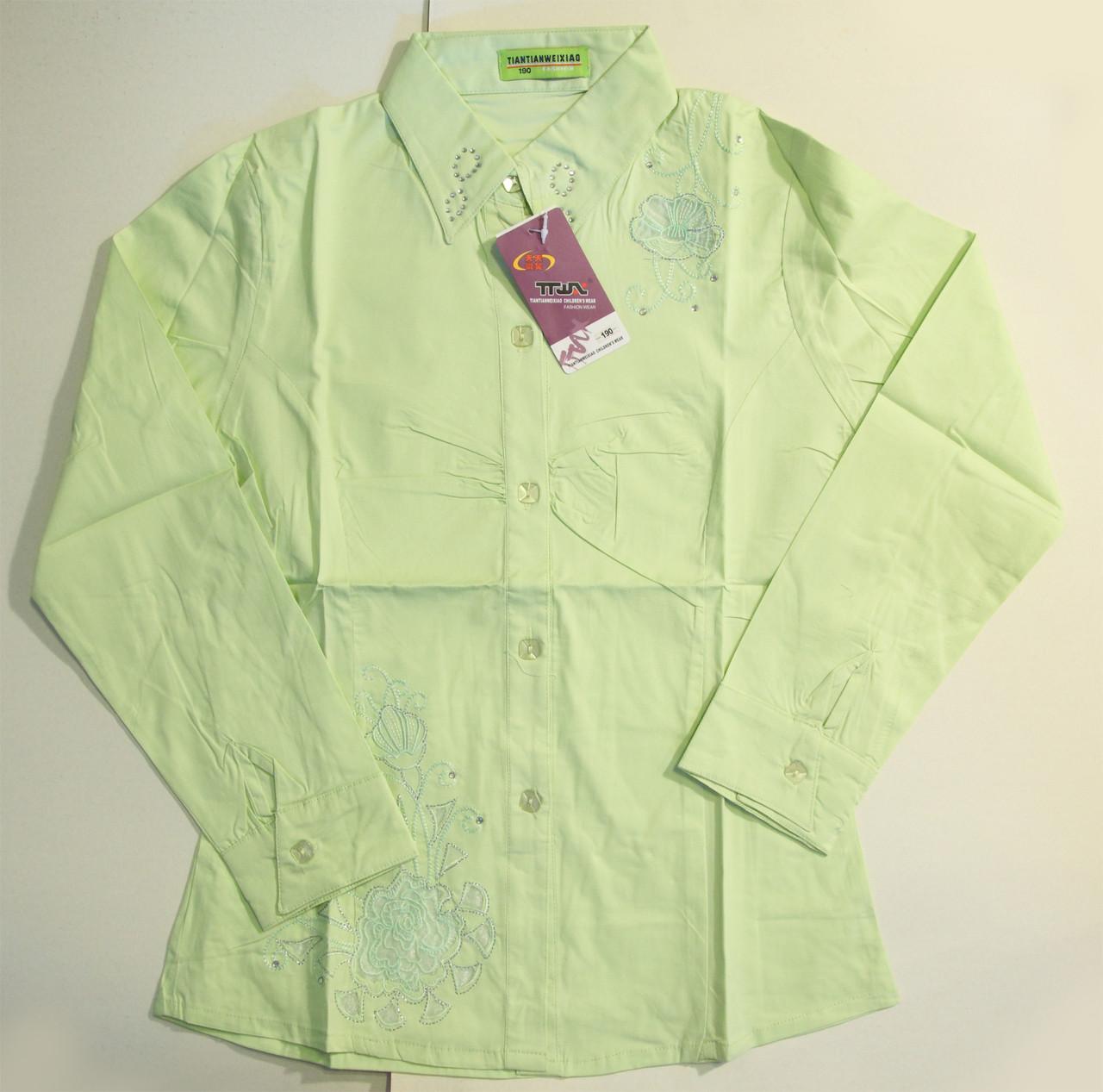 Рубашка для девочек салатовая (8-12 лет)
