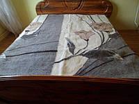 Одеяло шерстяное, размер 160 см на 210 см, рисунок цветок тепла